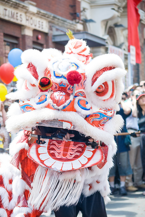 Lion Dance performance as part of Chinese New Year celebrations