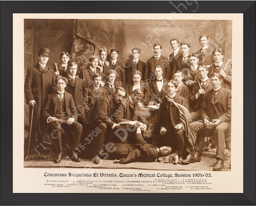 Digital Reproduction of a Medical School Class photo from 1901-1902<br />