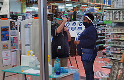 JOHANNESBURG, May 3, 2020  Staff members test an infrared thermometer before the shop opens in Johannesburg, South Africa, May 2, 2020..  South Africa on Saturday reported 385 new COVID-19 cases in the past 24 hours, the highest daily surge since the country recorded its first case in early March..  The newly-added cases brought the total number of the infection to 6,336, Health Minister Zweli Mkhize said in a statement..  The country has reported 123 virus-related deaths by Saturday, said the minister. (Credit Image: © Chen Cheng/Xinhua via ZUMA Wire)