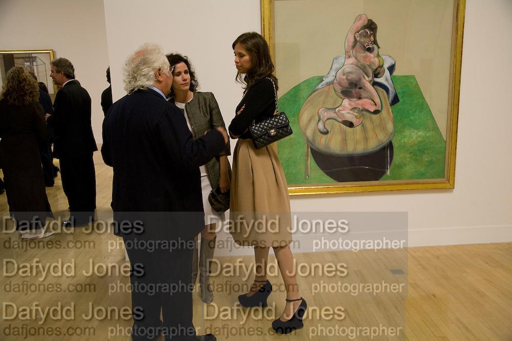Tony Shafrazi; Mollie Dent-brocklehurs; Dasha Zhukova, Francis Bacon opening private view and dinner. Tate Britain. 8 September 2008 *** Local Caption *** -DO NOT ARCHIVE-© Copyright Photograph by Dafydd Jones. 248 Clapham Rd. London SW9 0PZ. Tel 0207 820 0771. www.dafjones.com.