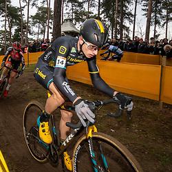 26-12-2019: Cycling: CX Worldcup: Heusden-Zolder: Quinten Hermans leading the pack