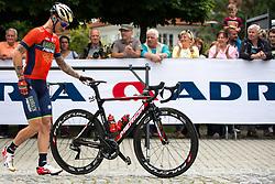Grega Bole of Bahrain Merida prior to 3rd Stage of 25th Tour de Slovenie 2018 cycling race between Slovenske Konjice and Celje (175,7 km), on June 15, 2018 in  Slovenia. Photo by Matic Klansek Velej / Sportida