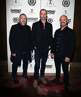"""Nick Taussig, Gabriel Range and Paul van Carter   at the UK Premiere of """"Stardust"""", the Opening Film of the Raindance Film Festival,The May Fair Hotel ,London photo by Roger Alarcon"""