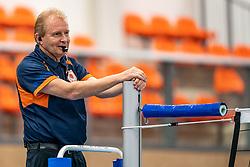 Referee Koos Nederhoed in action in the supercup semifinal between Draisma Dynamo – Active Living Orion on October, 03 2020 in Van der Knaaphal, Ede