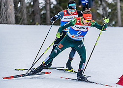 22.02.2019, Seefeld, AUT, FIS Weltmeisterschaften Ski Nordisch, Seefeld 2019, Nordische Kombination, Langlauf, im Bild Fabian Riessle (GER) // Fabian Riessle of Germany during the Cross Country Competition of Nordic Combined for the FIS Nordic Ski World Championships 2019. Seefeld, Austria on 2019/02/22. EXPA Pictures © 2019, PhotoCredit: EXPA/ Stefan Adelsberger