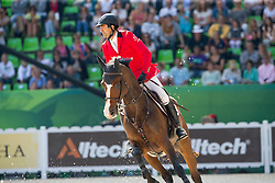 Karim El Zoghby, (EGY), Amelia - First Round Team Competition Jumping Speed - Alltech FEI World Equestrian Games™ 2014 - Normandy, France.<br /> © Hippo Foto Team - Leanjo De Koster<br /> 03-09-14