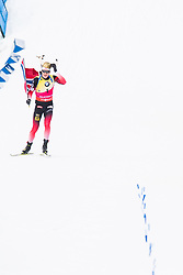 March 24, 2019 - Oslo, NORWAY - 190324 Johannes Thingnes Bø of Norway celebrates in the men's 15 km mass start during the IBU World Cup on March 24, 2019 in Oslo..Photo: Jon Olav Nesvold / BILDBYRÃ…N / kod JE / 160428 (Credit Image: © Jon Olav Nesvold/Bildbyran via ZUMA Press)