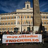 No Giubileo, manifestazione del Movimento cittadini