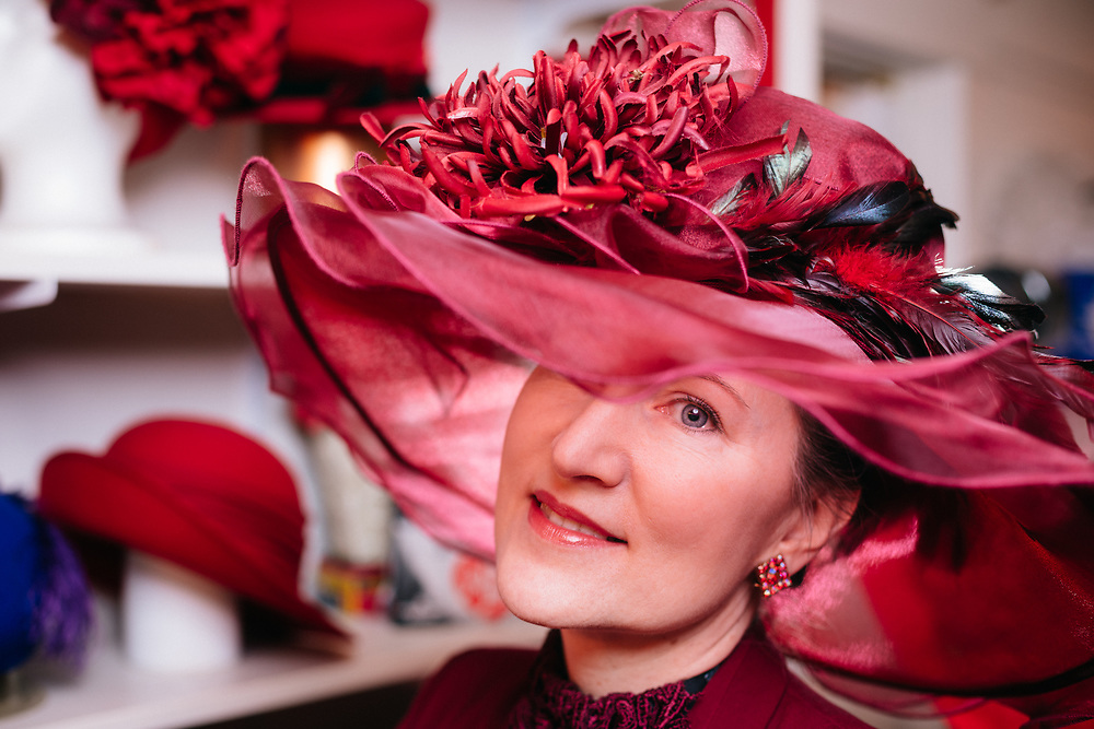 Lu Ann Trotebas, Director of The National Hat Museum in Portland, OR. Photographed for 1859 Magazine on February 1, 2019 by Jason Quigley