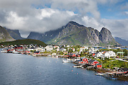 Images from the Lofoten Islands in arctic Norway at midsummer. This is the village of Reine on Moskenesøya
