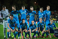Team Slovenia during football match between National teams of Lithuania and Slovenia at Round 3 of Euro 2016 Qualifications, on October 12, 2014 in Vilnius, Lithuania.  Photo by Robertas Dackus / Sportida.com