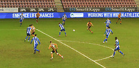 Hull City's Mallik Wilks scores his side's 5th goal<br /> <br /> Photographer Dave Howarth/CameraSport<br /> <br /> The EFL Sky Bet League One - Wigan Athletic v Hull City - Wednesday 17th February 2021 - DW Stadium - Wigan<br /> <br /> World Copyright © 2021 CameraSport. All rights reserved. 43 Linden Ave. Countesthorpe. Leicester. England. LE8 5PG - Tel: +44 (0) 116 277 4147 - admin@camerasport.com - www.camerasport.com
