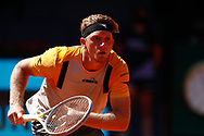 Alejandro Davidovich Fokina of Spain in action during his Men's Singles match, round of 32, against Daniil Medvedev of Russia on the Mutua Madrid Open 2021, Masters 1000 tennis tournament on May 5, 2021 at La Caja Magica in Madrid, Spain - Photo Oscar J Barroso / Spain ProSportsImages / DPPI / ProSportsImages / DPPI