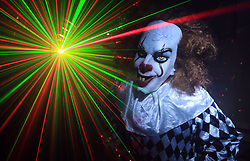 Review of the Year 2017: October: A performer prepares for trick or treaters at the Godinton Halloween House in Ashford, Kent, for an annual charity event.