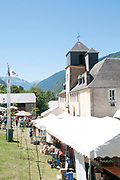 Sunday Market at Arreau, Hautes-Pyrénées, France.