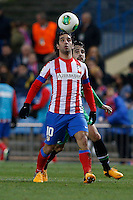 17.01.2013 SPAIN - Copa del Rey Matchday 1/2th  match played between Atletico de Madrid vs Real Betis Balompie (2-0) at Vicente Calderon stadium. The picture show  Arda Turan (Turkish midfielder of At. Madrid)