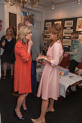 RACHEL JOHNSON; PETRONELLA WYATT, Elliott and Thompson host a book launch of How the Queen can Make you Happy by Mary Killen.- Book launch. The O' Shea Gallery. St. James's St. London. 20 June 2012.