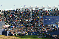 Illustration 1st tee during the saturday morning fourballs session of Ryder Cup 2018, at Golf National in Saint-Quentin-en-Yvelines, France, September 29, 2018 - Photo Philippe Millereau / KMSP / ProSportsImages / DPPI