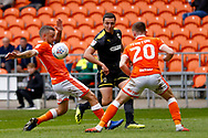 Wimbledon midfielder Anthony Hartigan (8) crosses the ball in during the EFL Sky Bet League 1 match between Blackpool and AFC Wimbledon at Bloomfield Road, Blackpool, England on 20 October 2018.