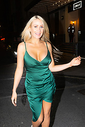 Former Playboy model Hayley Bray is photographed out and about In London as she heads to Studio 61 Cocktail Bar at Sway in Holborn after getting her hair and nails done at Luxe Nail Salon in Fitzrovia. LONDON, December 28 2018.