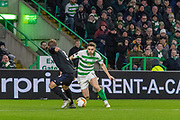 James Forrest of Celtic FC makes a run towards the box early in the 2nd half during the Europa League match between Celtic and FC Copenhagen at Celtic Park, Glasgow, Scotland on 27 February 2020.