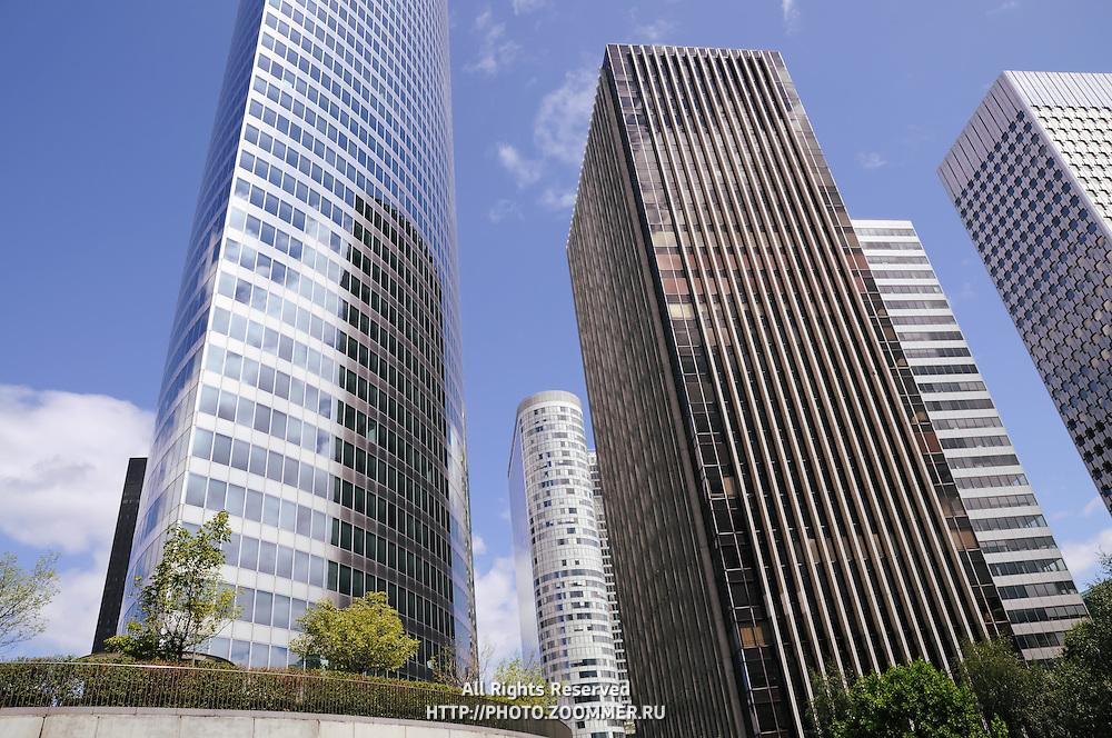 Defense district buildings in Paris, France (horizontal)
