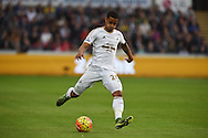Kyle Naughton of Swansea city in action. Barclays Premier league match, Swansea city v Arsenal  at the Liberty Stadium in Swansea, South Wales  on Saturday 31st October 2015.<br /> pic by  Andrew Orchard, Andrew Orchard sports photography.