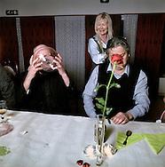 Helge Tonning has his 40th birthday at Vassenden hotell. Left Bjorn Johnsen and behind Reidun Ostenstad.15 march 2008