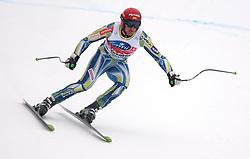 17/12/2010 ALPINE SKI WORLD CUP VAL GARDENA 2010 FIS SKI WELT CUP. Andrej Sporn of Slovenia competes during the Audi FIS Alpine Ski World Cup Men's SuperG on December 17, 2010 in Val Gardena, Italy.  © Photo Pierre Teyssot / Sportida.com.