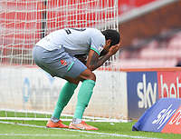 Blackburn Rovers' Dominic Samuel reacts to missing an easy shot<br /> <br /> Photographer Dave Howarth/CameraSport<br /> <br /> The EFL Sky Bet Championship - Barnsley v Blackburn Rovers - Tuesday 30th June 2020 - Oakwell - Barnsley<br /> <br /> World Copyright © 2020 CameraSport. All rights reserved. 43 Linden Ave. Countesthorpe. Leicester. England. LE8 5PG - Tel: +44 (0) 116 277 4147 - admin@camerasport.com - www.camerasport.com