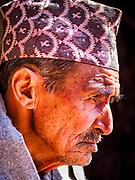 13 MARCH 2017 - PATAN, NEPAL: A Newari man in Patan.     PHOTO BY JACK KURTZ