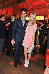 DAVID GANDY and LAURA WHITMORE at One Night Changes Everything - a fundraising evening for the 2013 Comic Relief Campaign held at The Royal Opera House, London on 28th February 2013.