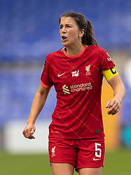 BIRKENHEAD, ENGLAND - Sunday, August 29, 2021: Liverpool's Niamh Fahey during the FA Women's Championship game between Liverpool FC Women and London City Lionesses FC at Prenton Park. London City won 1-0. (Pic by Paul Currie/Propaganda)