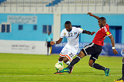 October 7, 2017 - Monastir, Tunisia - Mbemba Mangulu Chancel(22) of DR Congo and Musrati Motassam Bellah (R)during the qualifying match for the FIFA 2018 World Cup in Russia between Libya and the Democratic Republic of Congo (DR Congo) at Mustapha Ben Jannet stadium in Monastir  (Credit Image: © Chokri Mahjoub via ZUMA Wire)