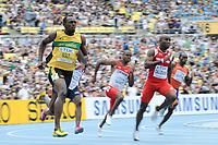 ATHLETICS - IAAF WORLD CHAMPIONSHIPS 2011 - DAEGU (KOR) - DAY 7 - 02/09/2011 - PHOTO : STEPHANE KEMPINAIRE / KMSP / DPPI - <br /> 200 M  - HEAT 1 - MEN - USAIN BOLT (JAM)