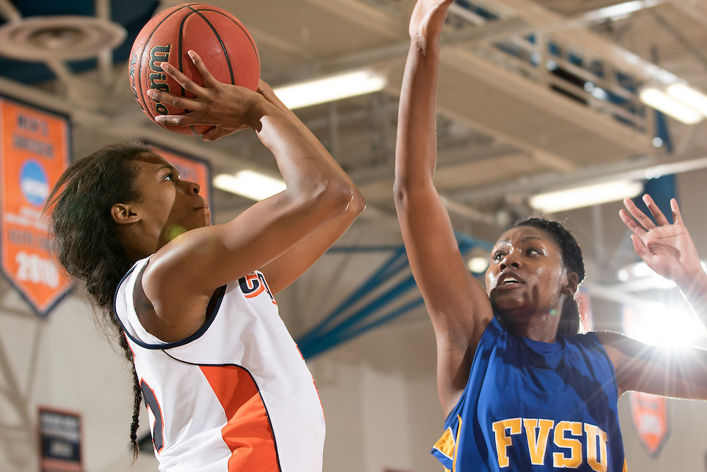 Dec. 3, 2014; Morrow, GA, USA; CSU's Ashley Cunningham (25) in action against Fort Valley State at CSU. Clayton State won 87-73. Photo by Kevin Liles / kevindliles.com