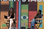 """Justine Bateman, Author of """"Fame: The hijacking of Reality, """" interviewed by Deborah Vankin at the Los Angeles Times Festival of Books held at the USC Campus in Los Angeles, California on Sunday, April 14, 2019"""