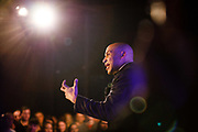 Democratic presidential candidate Cory Booker speaks Saturday, Feb. 9, 2019, during a campaign rally in Des Moines, Iowa.