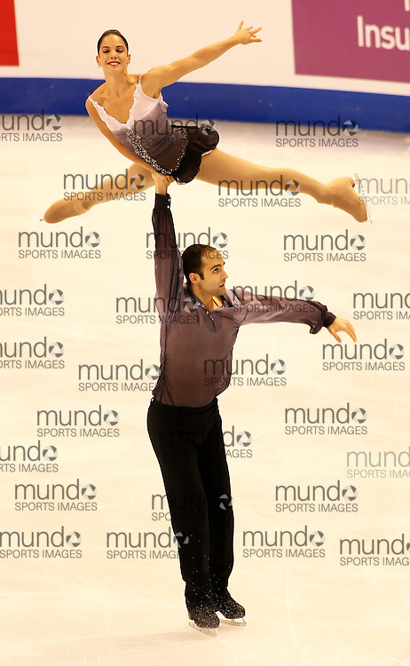 (Ottawa, ON---1 November 2008)  Tiffany Vise and Derek Trent of the USA compete in the pairs free skating at the 2008 HomeSense Skate Canada International figure skating competition. They finished fifth. Photograph copyright Sean Burges/Mundo Sport Images (www.msievents.com).