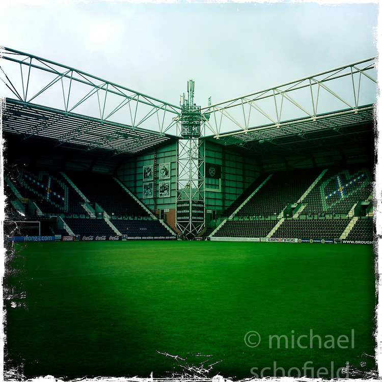 Tynecastle..Hipstamatic images taken on an Apple iPhone..©Michael Schofield.