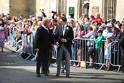 Caspar Jopling (right) arriving at York Minster for his wedding to singer Ellie Goulding.