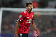 Jesse Lingard of Manchester United looks on. EFL Carabao Cup 4th round match, Swansea city v Manchester Utd at the Liberty Stadium in Swansea, South Wales on Tuesday 24th October 2017.<br /> pic by  Andrew Orchard, Andrew Orchard sports photography.