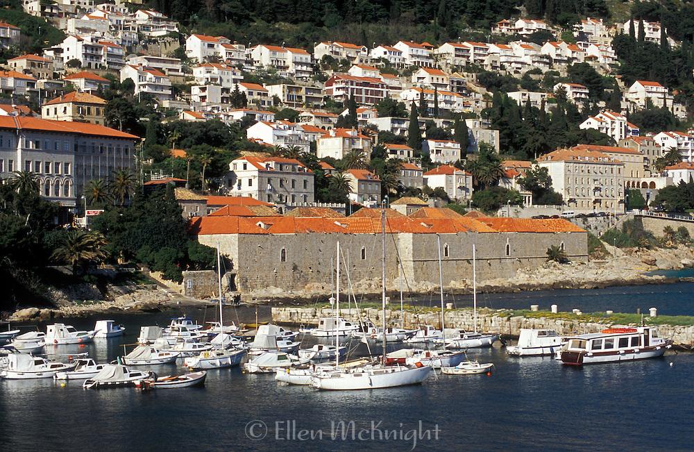 Harbor view in Dubrovnik