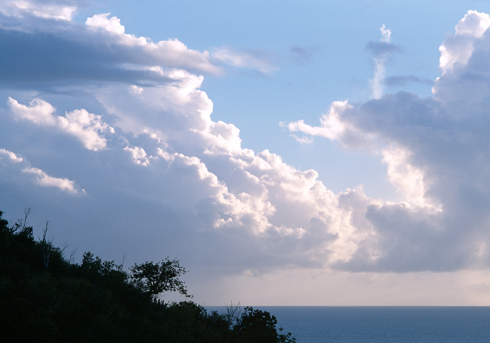 Beautiful clouds and blue sky over the Caribbean