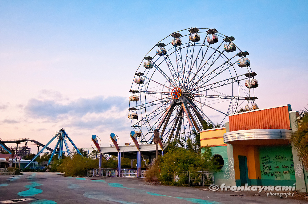 Six Flags theme park in New Orleans East, which was flooded by Hurricane Katrina and left abandoned.