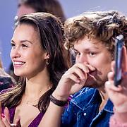NLD/Amsterdam/20171030 - Holland Next Top Model 2017 finale, Holly Brood en partner Soy Kroon