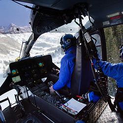 Activité de secours en montagne de l'hélicoptère EC145 du DAG Modane, des gendarmes secouristes du PGHM Savoie et du médecin urgentiste du SMUR Maurienne pendant la saison de ski en station. Missions de recherche de personnes disparues, de secours en piste et hors-piste de jour, et de transport inter-hospitalier de nuit.<br /> Février 2019 / Modane (73) / FRANCE<br /> Voir le reportage complet (175 photos) https://sandrachenugodefroy.photoshelter.com/gallery/2019-02-Secours-en-montagne-a-Modane-Complet/G0000ZLmkrRF_lo0/C0000yuz5WpdBLSQ