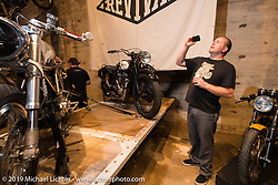 Harley-Davidson motorcycle designer Casey Ketterhagen documents the great customs on Saturday at the Handbuilt Motorcycle Show. Austin, TX. April 11, 2015.  Photography ©2015 Michael Lichter.
