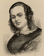 Caroline Chisholm (born Jones - 1808-77) born in Wootton, Northamptonshire. Worked tirelessly for improvement of conditions for female emigrants to Australia. Engraving c1850.