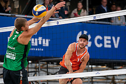 Ruben Penninga (1) of The Netherlands in action during CEV Continental Cup Final Day 1 - Women on June 23, 2021 in The Hague